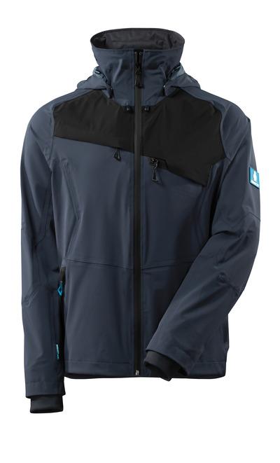 MASCOT® ADVANCED - syvä tummansininen/musta - Takki, neljään suuntaan joustava, vedenpitävä, kevyt