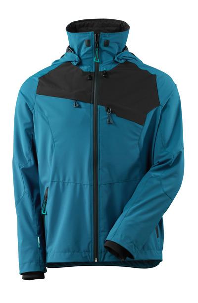 MASCOT® ADVANCED - tumma petrooli/musta - Takki, neljään suuntaan joustava kangas, vedenpitävä