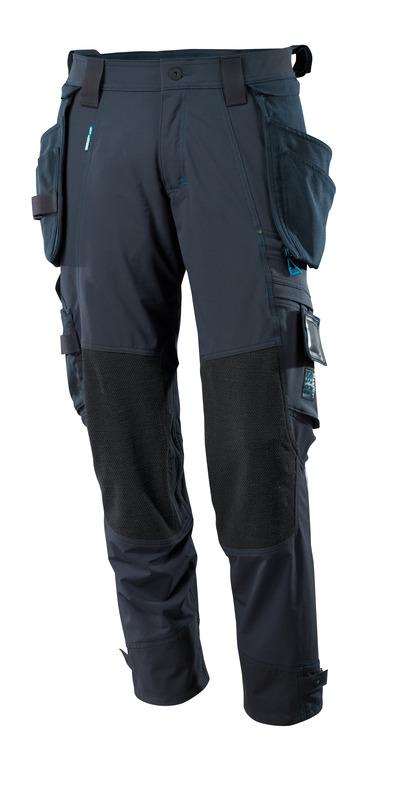 MASCOT® ADVANCED - syvä tummansininen - Housut Dyneema®-polvitaskuilla ja irrotettavilla riipputaskuilla, neljään suuntaan joustava, kevyt