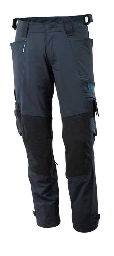MASCOT® ADVANCED - syvä tummansininen - Housut Dyneema® polvitaskut, neljään suuntaan joustava, kevyt