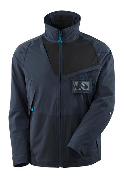 MASCOT® ADVANCED - syvä tummansininen/musta - Takki, neljään suuntaan joustava, kevyt