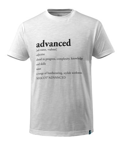 MASCOT® ADVANCED - valkoinen - T-Paita ADVANCED-teksti, muotoonommeltu