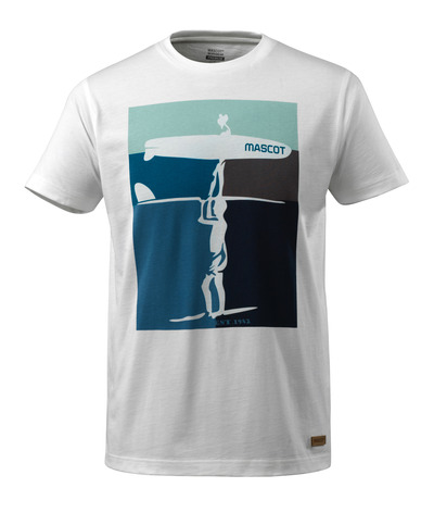 MASCOT® ADVANCED - valkoinen - T-Paita surffaus-teemalla, muotoonommeltu