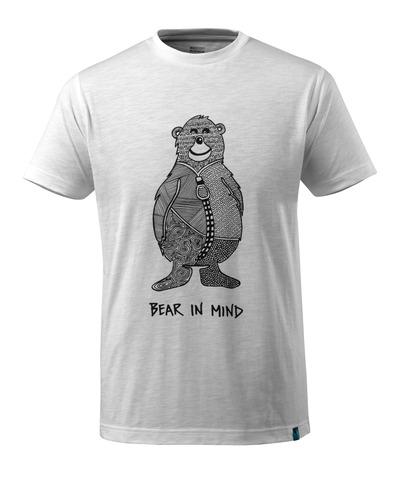 MASCOT® ADVANCED - valkoinen* - T-Paita karhulogo ja BEAR IN MIND -teksti.