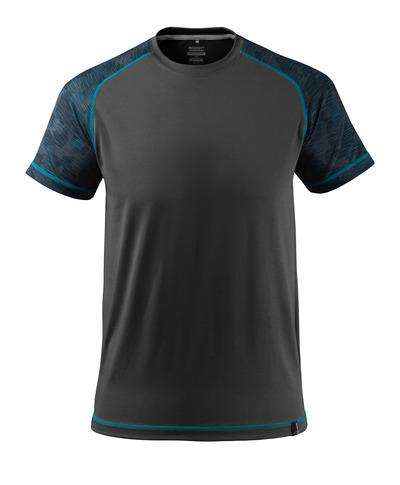 MASCOT® ADVANCED - musta - T-paita, kosteutta siirtävä, moderni istuvuus