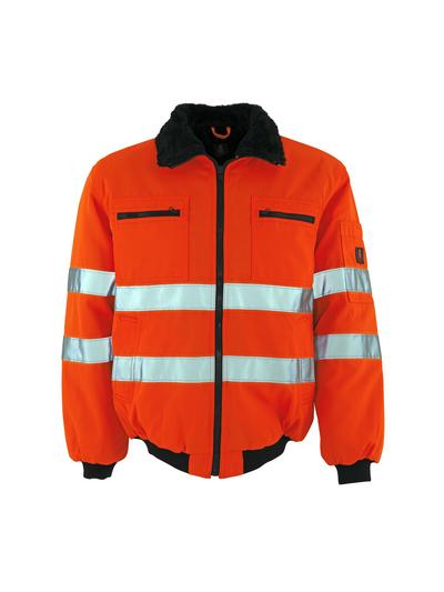 MASCOT® Alaska - hi-vis oranssi - Pilottitakki turkisvuorilla, vettähylkivä, Luokka 3