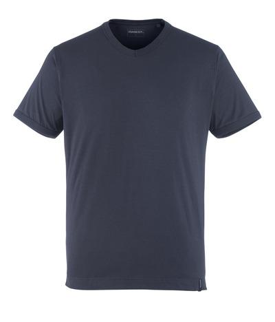 MASCOT® Algoso - syvä tummansininen - T-Paita, pieni V-kaulus, muotoonommeltu