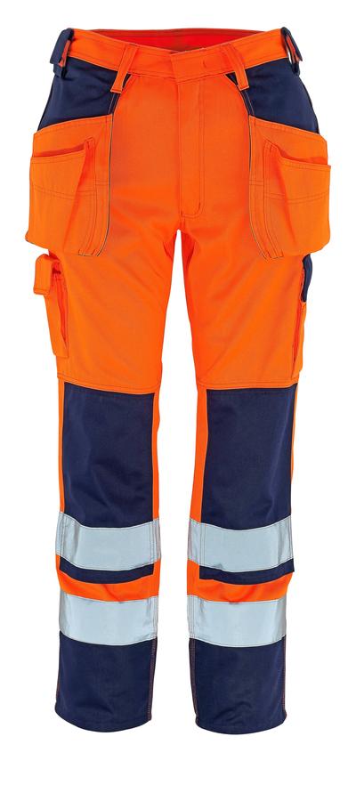 MASCOT® Almas - hi-vis oranssi/tummansininen - Riipputaskuhousut