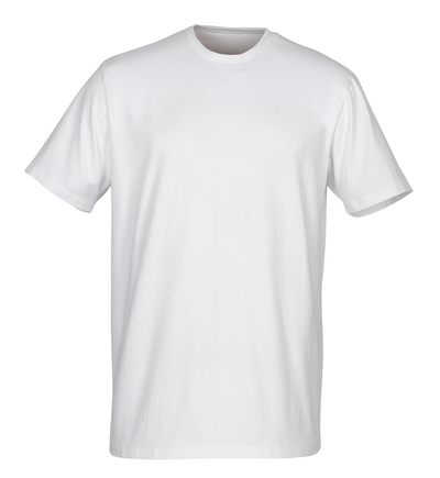 MASCOT® Argana - valkoinen - Aluspaita, pieni V-kaulus ja lyhyet hihat, muotoonommeltu