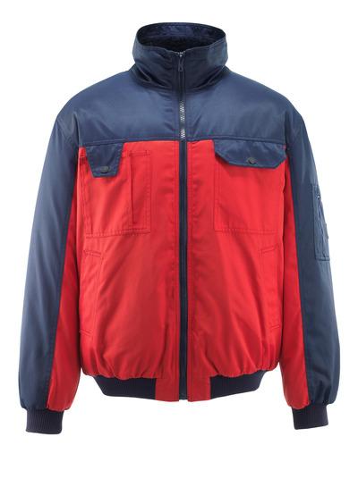 MASCOT® Bolzano - punainen/tummansininen - Pilottitakki turkisvuorilla, vettähylkivä Bearnylon®