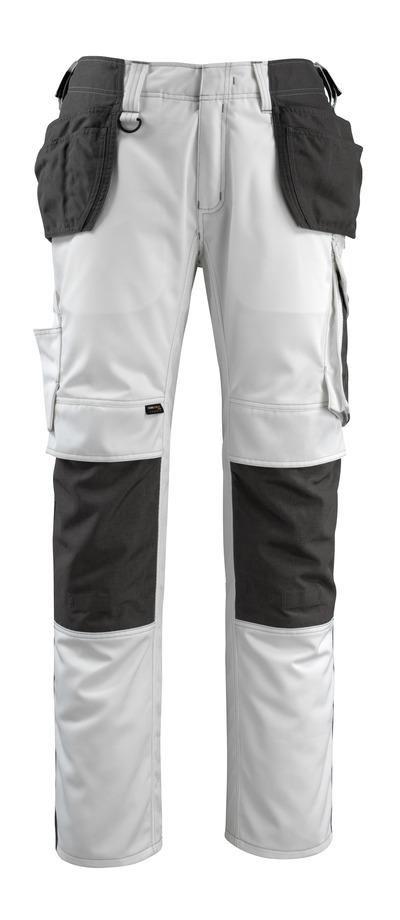 MASCOT® Bremen - valkoinen/tumma antrasiitti - Riipputaskuhousut