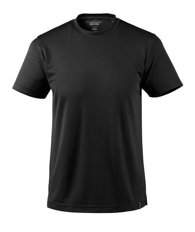MASCOT® CROSSOVER - musta - T-Paita, kosteutta siirtävä CoolDry, muotoonommeltu