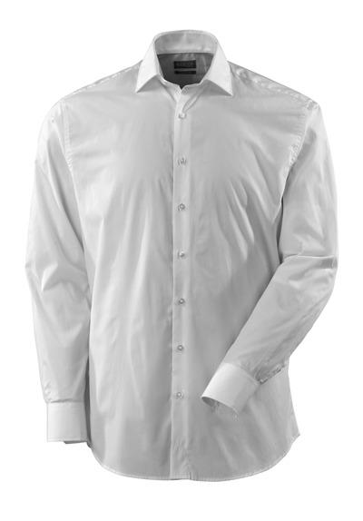 MASCOT® CROSSOVER - valkoinen - Paita poplin, klassinen istuvuus, pitkät hihat.