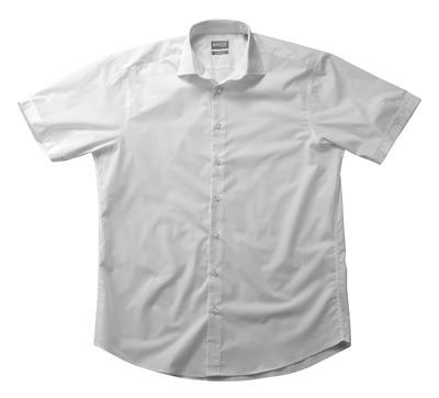 MASCOT® CROSSOVER - valkoinen - Paita poplin, klassinen istuvuus, lyhyet hihat.