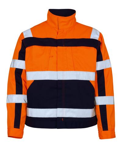 MASCOT® Cameta - hi-vis oranssi/tummansininen - Takki, hyvä kulutuksenkestävyys, Luokka 2