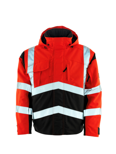 MASCOT® Camina - hi-vis punainen/tumma antrasiitti - Pilottitakki tikkikangasvuorilla, vedenpitävä MASCOTEX®, Luokka 2