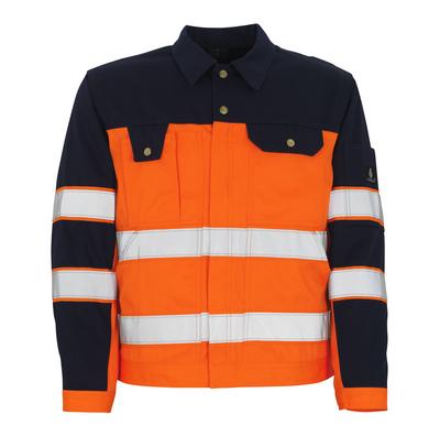 MASCOT® Como - hi-vis oranssi/tummansininen* - Takki, hyvä kulutuksenkestävyys, Luokka 2/2