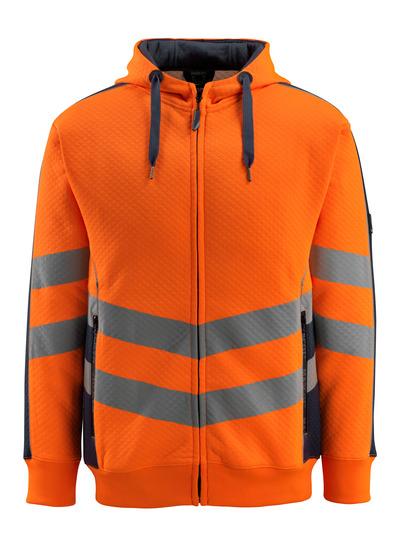 MASCOT® Corby - hi-vis oranssi/tumma laivastonsininen - Huppari, vohvelikangasmainen pinta, muotoonommeltu