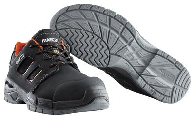 MASCOT® Diran - musta/tummanoranssi - Turvajalkineet, S3, nauhalliset