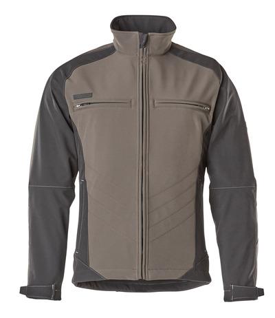 MASCOT® Dresden - tumma antrasiitti/musta - Softshell-takki, fleece-sisäpinta vettähylkivä