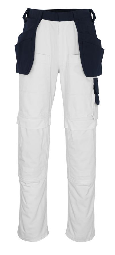 MASCOT® Fasano - valkoinen/tummansininen* - Riipputaskuhousut