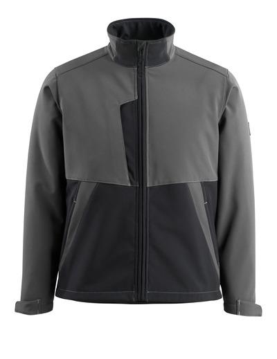 MASCOT® Finley - tumma antrasiitti/musta - Softshell-takki, fleece-sisäpinta