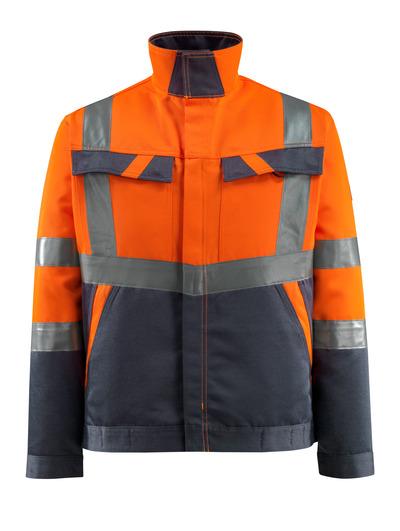 MASCOT® Forster - hi-vis oranssi/tumma laivastonsininen - Takki, kevyt, Luokka 2