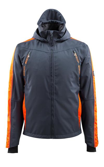 MASCOT® Gandia - tumma laivastonsininen/hi-vis oranssi - Kuoritakki hi-vis-kontrastiväreillä, vedenpitävä