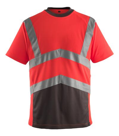 MASCOT® Gandra - hi-vis punainen/tumma antrasiitti* - T-Paita, muotoonommeltu, Luokka 2