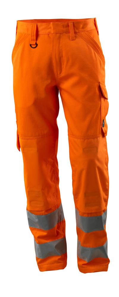 MASCOT® Geraldton - hi-vis oranssi - Housut polvitaskut, yksivärinen, Luokka 2.