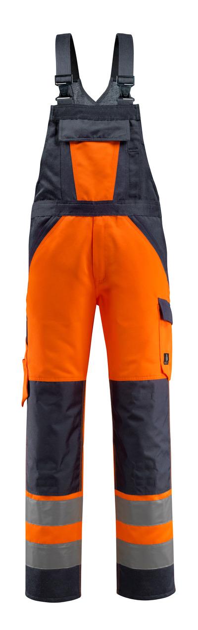 MASCOT® Gosford - hi-vis oranssi/tumma laivastonsininen - Avosuoja polvitaskuilla, Luokka 2