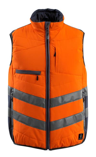 MASCOT® Grimsby - hi-vis oranssi/tumma laivastonsininen - Liivi, vanutäyte, vettähylkivä, Luokka 1