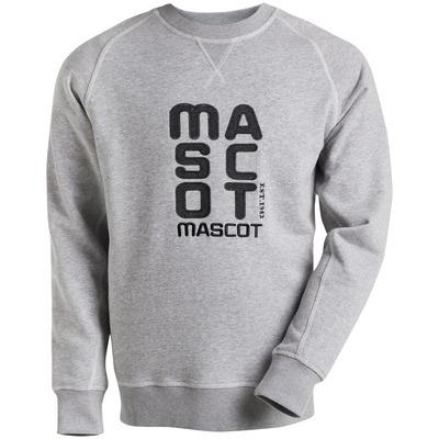 MASCOT® HARDWEAR - meleerattu harmaa* - Swetari brodeedaus »MASCOT«., muotoonommeltu