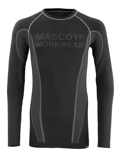 MASCOT® Hamar - musta - Toiminnallinen aluspaita, kosteutta siirtävä, eristävä