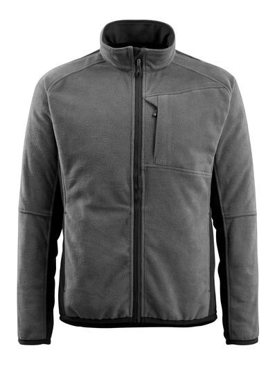 MASCOT® Hannover - tumma antrasiitti/musta - Fleece Takki, pidennetty selkäosa