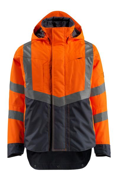 MASCOT® Harlow - hi-vis oranssi/tumma laivastonsininen - Kuoritakki, vedenpitävä, Luokka 3