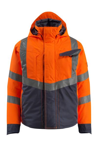 MASCOT® Hastings - hi-vis oranssi/tumma laivastonsininen - Talvitakki, vanutäyte, vedenpitävä, Luokka 3