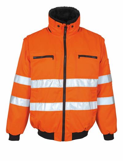 MASCOT® Innsbruck - hi-vis oranssi - Pilottitakki irrotettavalla turkisvuorilla, vettähylkivä, Luokka 2
