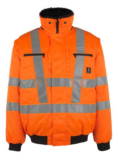 MASCOT® Innsbruck - hi-vis oranssi - Pilottitakki irrotettavalla turkisvuorilla, vettähylkivä, Luokka 3