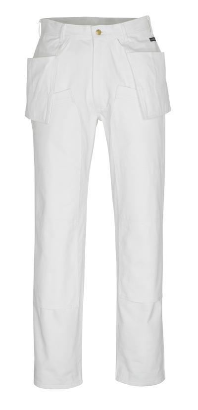 MASCOT® Jackson - valkoinen* - Housut polvi- ja riipputaskuilla