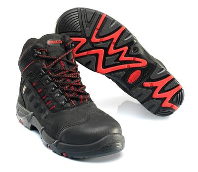 MASCOT® Kenya - musta/punainen - Turvasaappaat, S3, nauhalliset