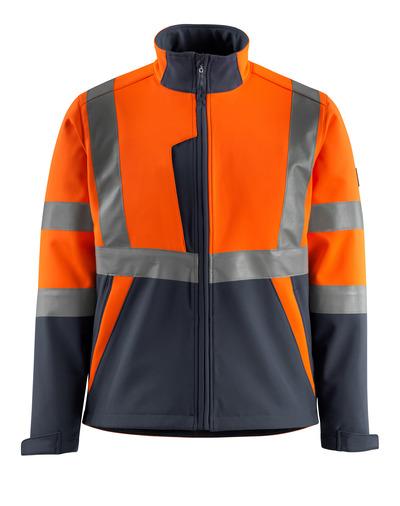 MASCOT® Kiama - hi-vis oranssi/tumma laivastonsininen - Softshell-takki, fleece-sisäpinta, kl. 2