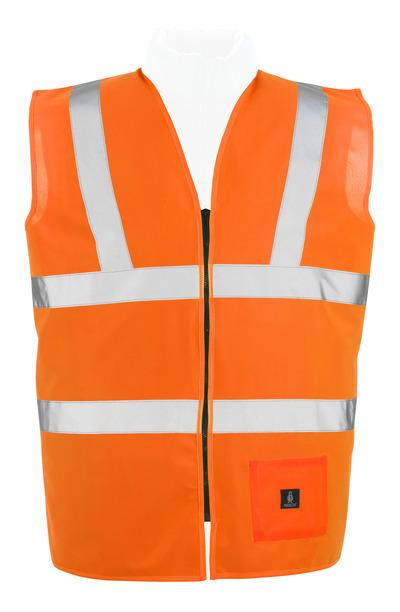 MASCOT® Lakewood - hi-vis oranssi* - Varoliivi vetoketjulla, Luokka 2