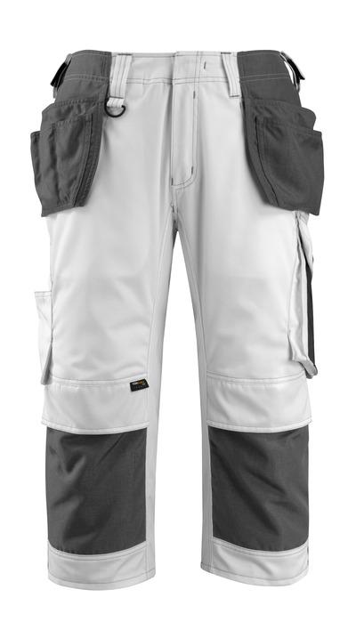 MASCOT® Lindau - valkoinen/tumma antrasiitti - Shortsit CORDURA®-polvi- ja -riipputaskuilla, hyvä kulutuksenkestävyys