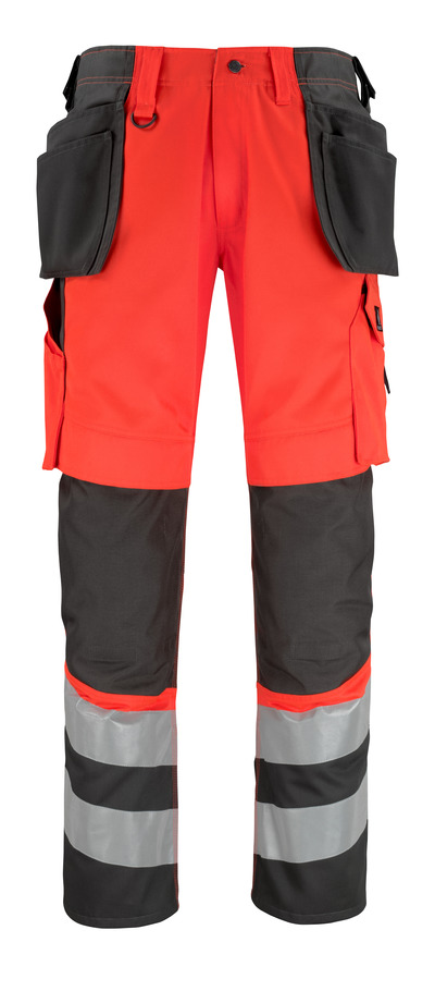 MASCOT® Lixa - hi-vis punainen/tumma antrasiitti* - Housut polvi- ja riipputaskuilla