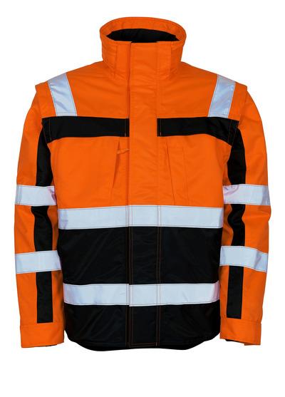 MASCOT® Loreto - hi-vis oranssi/tummansininen - Talvitakki irrotettavalla lämpötakki, vettähylkivä, Luokka 3