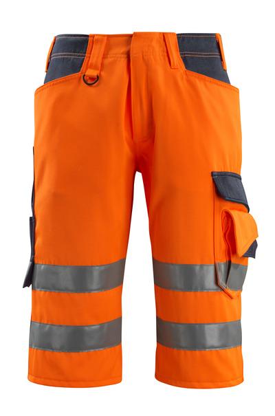MASCOT® Luton - hi-vis oranssi/tumma laivastonsininen - ¾-housut, Luokka 1