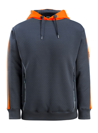 MASCOT® Motril - tumma laivastonsininen/hi-vis oranssi - Huppari hi-vis-kontrastiväreillä, vohvelikangasmainen pinta, muotoonommeltu
