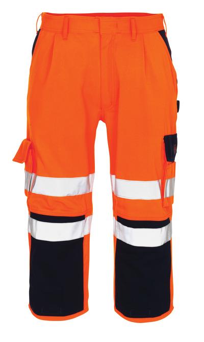MASCOT® Natal - hi-vis oranssi/tummansininen* - ¾-housut polvitaskuilla