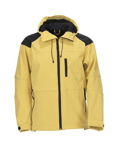 MASCOT® Nisa - kirkkaankeltainen/musta* - Softshell-takki hupulla, vettähylkivä